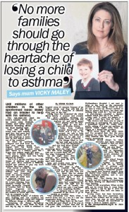 Vicky Maley's story in The Sun